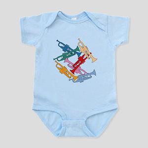 Colorful Trumpets Infant Bodysuit