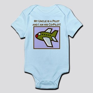 Uncle's Co-Pilot Airplane Infant Bodysuit