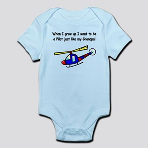 Helicopter Pilot Grandpa Infant Bodysuit