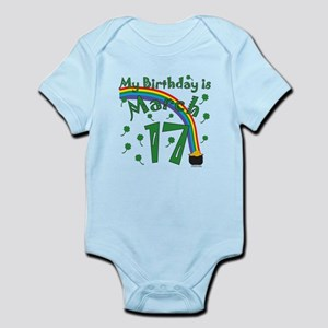 St. Patrick's Day March 17th Birthday Infant Bodys
