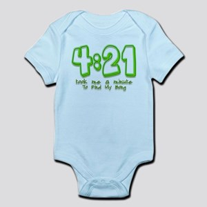 4:21 Funny Lost Bong Pot Desi Infant Bodysuit