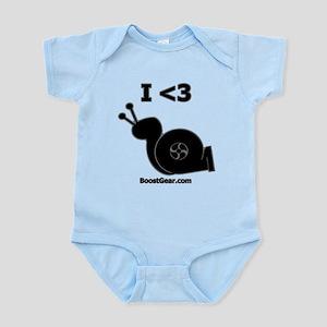 I <3 Turbo Snail - Infant Bodysuit by BoostGear