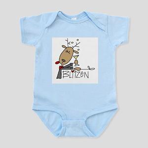 Blitzen Reindeer Infant Bodysuit