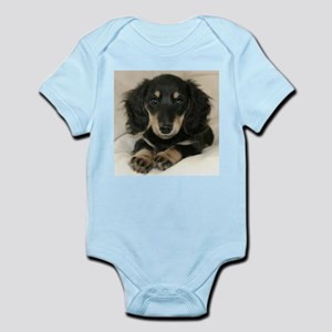 Long Haired Puppy Infant Bodysuit