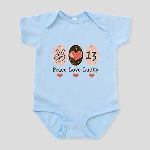 Peace Love Lucky 13 Infant Bodysuit