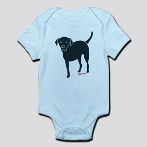 Front Tripawd Black Lab Kids Infant Bodysuit