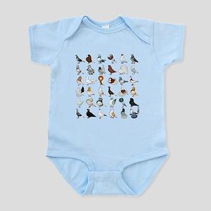 36 Pigeon Breeds Infant Bodysuit