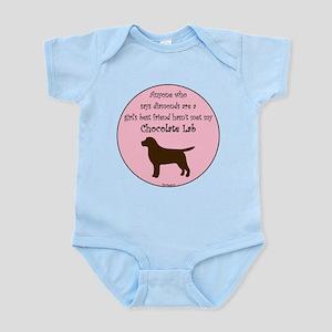 Girls Best Friend - Chocolate Infant Bodysuit