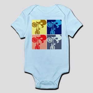 BMX Bike Rider/Pop Art Infant Bodysuit