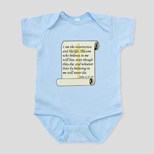 John 11:25-26 Infant Bodysuit