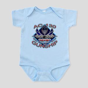 USAF AC-130 Gunship Skull Infant Bodysuit