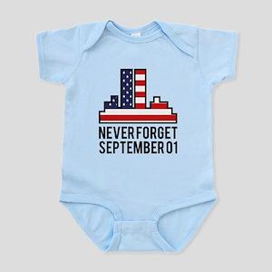 9 11 Never Forget Infant Bodysuit