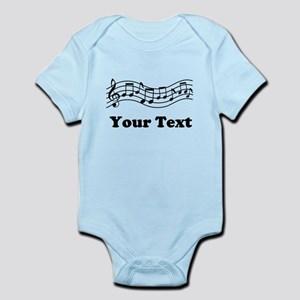 Music Staff Personalized Infant Bodysuit