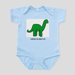 Name your own Brachiosaurus! Infant Bodysuit