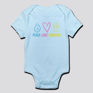 peace, love, chickens Infant Bodysuit