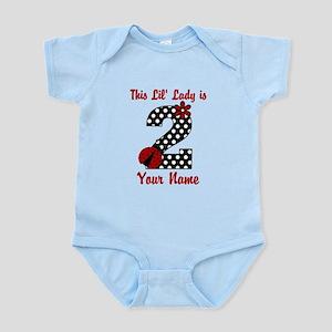 2nd Birthday Ladybug Infant Bodysuit