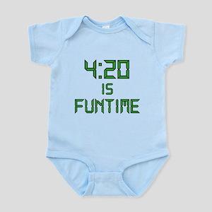 4:20 is Funtime Infant Bodysuit