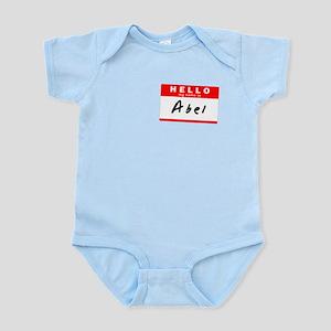 Abel, Name Tag Sticker Infant Bodysuit