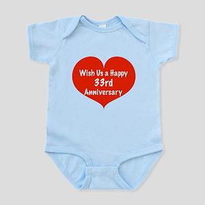 Wish us a Happy 33rd Anniversary Infant Bodysuit