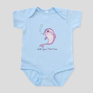 Cute Purple Dolphin Infant Bodysuit