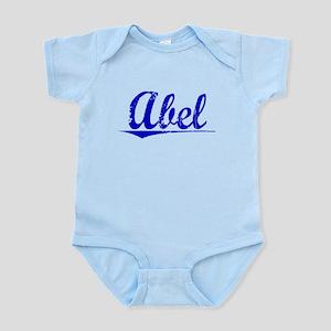 Abel, Blue, Aged Infant Bodysuit