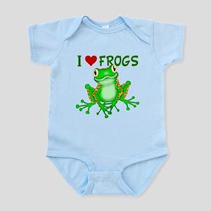 I Love (Heart) Frogs Body Suit