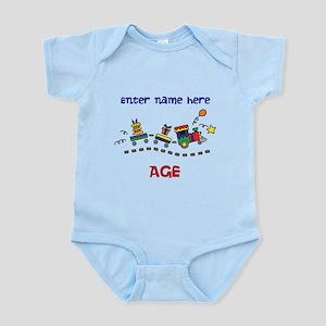 Personalized Birthday Train Infant Bodysuit