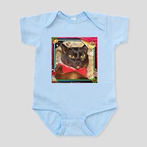 Sable Burmese Xmas, frame 2 Infant Bodysuit
