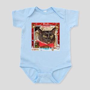 Sable Burmese Xmas, frame 4 Infant Bodysuit