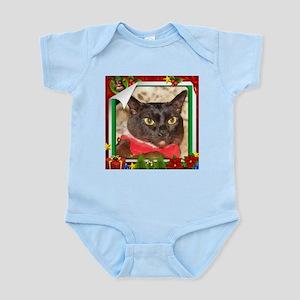 Sable Burmese Xmas, frame 5 Infant Bodysuit