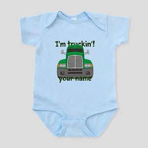 Personalized Im Truckin Infant Bodysuit