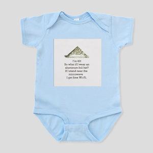 60th Birthday Aluminum Foil Hat Infant Bodysuit