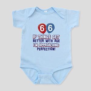 66 year Old Birthday Designs Infant Bodysuit