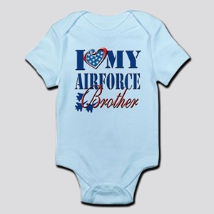 I Love My Airforce Brother Body Suit