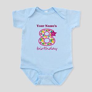 8th Birthday Splat - Personalized Infant Bodysuit