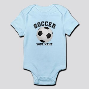 Personalized Name Soccer Infant Bodysuit