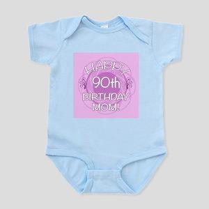 90th Birthday For Mom (Floral) Infant Bodysuit