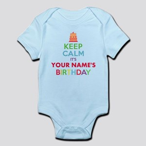 Personalized Keep Calm Its My Birthday Body Suit