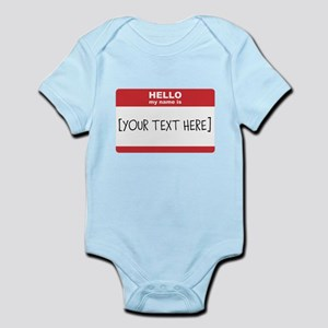 Name Tag Big Personalize It Body Suit