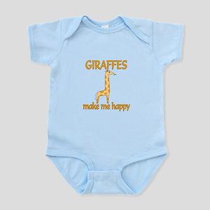 Giraffe Happy Infant Bodysuit