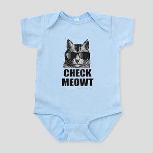 Check Meowt Infant Bodysuit