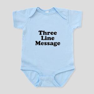 Big Three Line Message Body Suit