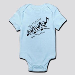 Music Notes PERSONALIZED Body Suit