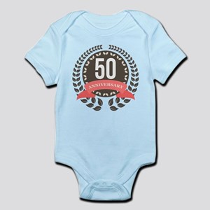 50 Years Anniversary Laurel Badge Infant Bodysuit