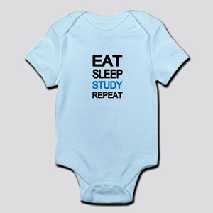 Eat sleep study repeat Body Suit
