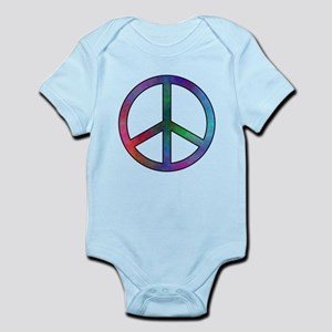 Multicolored Peace Sign Body Suit