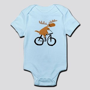 Moose Riding Bicycle Body Suit