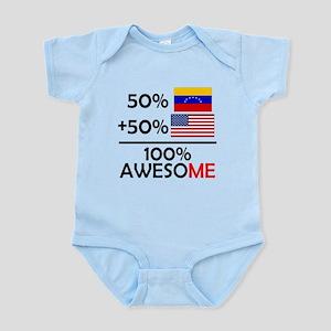 Half Venezuela Half American Body Suit