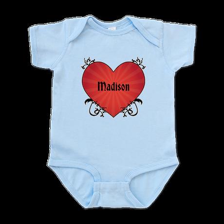 Custom Name Tattoo Heart Infant Bodysuit