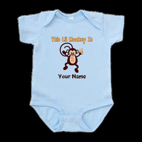 1st Birthday Monkey Infant Bodysuit